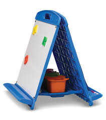 Tabletop Easel With Dry Erase Boards Pocket Chart And Storage Tubs