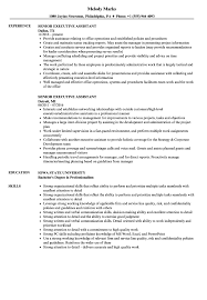 Resume Template Executive Assistant Senior Executive Assistant Resume Samples Velvet Jobs