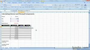 Principal Payment Calculation How To Calculate Interest And Principal Payments Lynda Com Tutorial