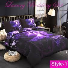 3d purple rose duvet cover set hd cat