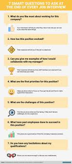 17 best ideas about interview questions job 7 questions to ask at the end of a job interview