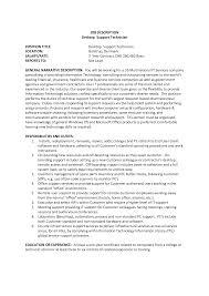 sample resume desktop support cover letter exles technical desktop support resume sample