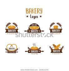 Bakery Logos Design Modern Bakery Logo Design Collection Simple Stock Vector