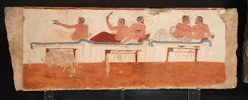 תוצאת תמונה עבור greek symposium painting