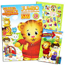 Amazoncom Daniel Tiger Coloring And Activity Book Set With