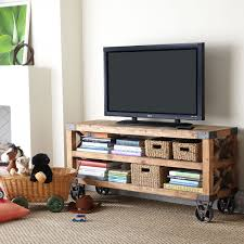 Cool Tv Stand Ideas cool homemade industrial tv stands with wheels made from reclaimed 4610 by uwakikaiketsu.us