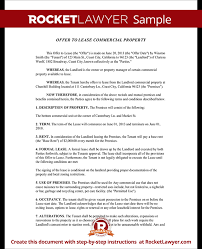 Lease Proposal Letter Awesome Offer To Lease Form With Sample