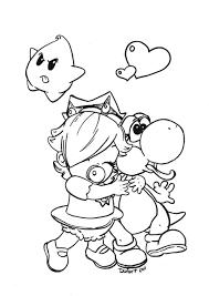 Rosalina And Yoshi By Jadedragonnedeviantartcom On At Deviantart