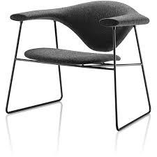 masculo lounge chair sled base balzac lounge chair designer