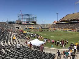 Sun Devil Stadium Section 45 Row 25 Seat 9 Arizona
