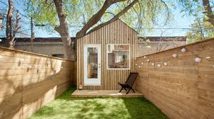 Garden Office Designs New Architect Builds His Own Studio At The End Of Toronto Garden
