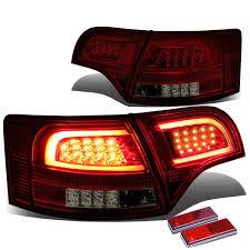 avant lighting. 05-08 Audi B7 A4/S4 Avant Smoked Housing Red Lens 3D LED Rear Tail Brake + Corner Signal Light Lighting .
