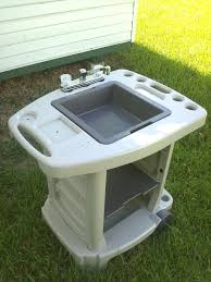 outdoor utility sink ing portable tractor supply with cabinet