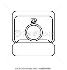 Box Ring Wedding Symbol Outline Vector Illustration Eps 10