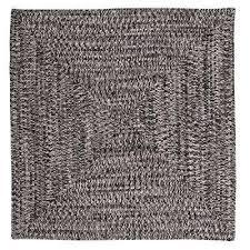 marilyn tweed zebra 4 ft x 4 ft square braided rug