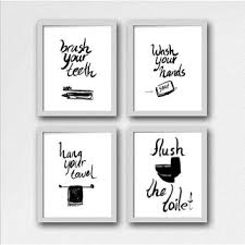 bathroom rules for kids. Perfect Rules Set Of 4 Kids Bathroom Rules Printable Wall Art Black And Whi Intended Bathroom Rules For Kids