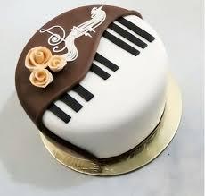 Piano Design Fondant Cake 2 Kg