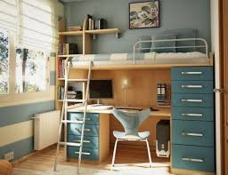 In addition the combination of a bed with a desk is also an unusual design  and an opportunity to keep many books and other school and home staff.