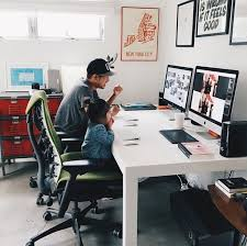 geeks home office workspace. minimal workspace by in office space geeks home