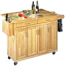 Kitchen Storage Carts Cabinets Home Styles 5023 95 Wood Top Kitchen Cart With Breakfast Bar