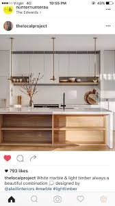 white and wood simple clean scandinavian inspired kitchen with inbuilt  shelving