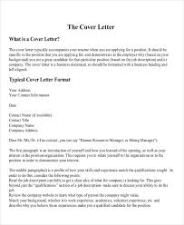 Professional Cover Letter Format Example