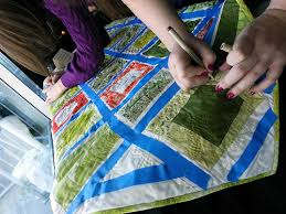 Tips for Signing a Completed Wedding Signature Quilt | waterpenny ... & Signing Lauren's Wedding Signature Quilt Adamdwight.com