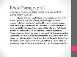 expository essay the outsiders ppt video online  6 body