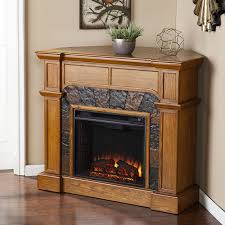 cartwright convertible electric fireplace in mission oak southern enterprises fe9285