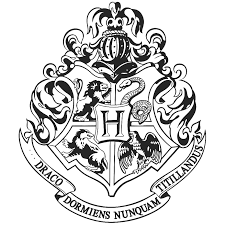 Hogwarts logo black and white png 7 » PNG Image