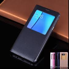 flip cover leather case for samsung galaxy note 5 note 4 slim thin view window case shockproof holster nz 2019 from zhouzeli nz 1 51 dhgate nz