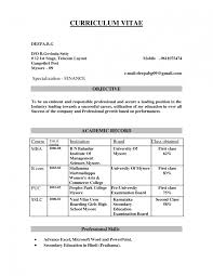 Hr Fresher Sample Resumes Download Resume Format Templates For It