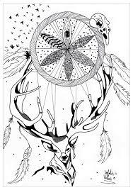 Mandala A Imprimer Cerf Dreamcatcher Par Valentin Mandalas De