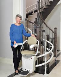 home chair lift. Curved In-home Stair Lift Home Chair