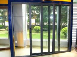 aluminium sliding glass door with high quality hardware and handles