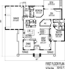 Bedroom Single Level House Plans Designs One Floor   GarageBrick Prairie Style House Plans Two Bedroom Bath Single Floor Car Garage Basment