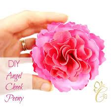 Peony Paper Flower Angel Cheek Peony Paper Flower Template