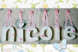 Wooden Letters Design Cute Ideas For Making Wooden Letters For Baby Room With Pink Flowers