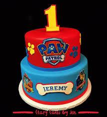 Paw Patrol Cake Paw Patrol Red Blue Cake 2 Tier Cake Round