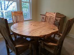 maple dining room set best of hand made round ambrosia maple dining