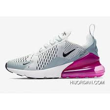 Light Grey Womens Nikes Womens Nike Air Max 270 Running Shoes Barely Grey Light Pumice Fuchsia Blast Black Ah6789 004 New Year Deals