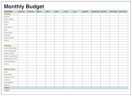 Printable Weekly Budget Template Monthly Budget Template Printable Monthly Budget Template