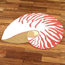 c bathroom rugs bath rug target shell seashell bright colors for accent ivory shaped orange