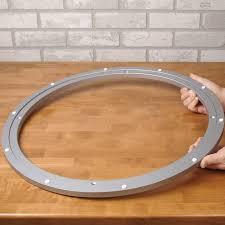 lazy susan bearing mechanism. lazy susan, extra-large aluminum swivel susan bearing mechanism