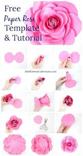 Paper Flower Template Free Large Paper Flower Template Template Free Large Paper Rose