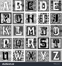 Decorative Letters Decorative Letters Variety Styles Particularly Suited Stock Vector
