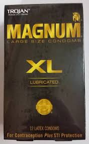 magnum xl size new trojan magnum xl large size latex condoms silky lube lubricated