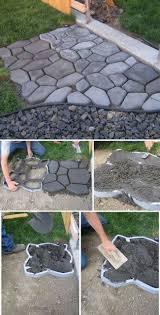 Diy Stepping Stones Diy Cobblestone Path Wantneedlove Pinterest Paths