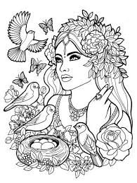 Fantasy Myth Mythical Mystical Legend Elf Elves Coloring Pages