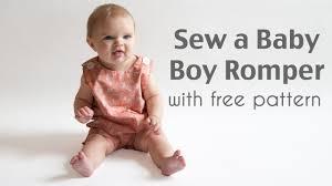 Baby Romper Pattern Free Enchanting Sew A Baby Boy Romper YouTube
